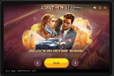 Info - Agent Royale Red Tiger Gaming 5 Reel/20 Line