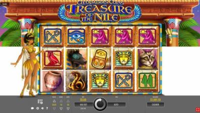 Slot Reels - Cleopatra's Coins: Treasure of the Nile Rival 5 Reel/50 Line
