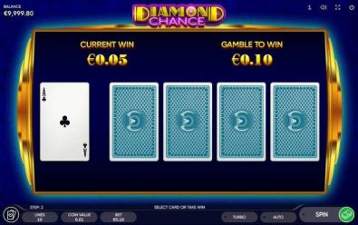 Gamble Winnings - Diamond Chance Endorphina 5 Reel/5 Line