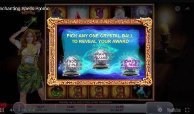 Free Spins Feature - Enchanting Spells 2 by 2 Gaming 5 Reel/40 Line