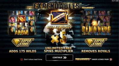 Info - Expendables Megaways StakeLogic 5 Reel/117649 Lines