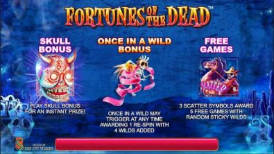 Info - Fortunes of the Dead Side City 5 Reel/50 Line