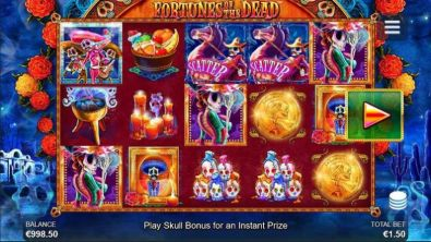 Slot Reels - Fortunes of the Dead Side City 5 Reel/50 Line