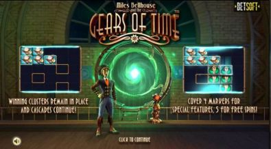 Bonus 1, Info - Gears of Time BetSoft 5 Reel/