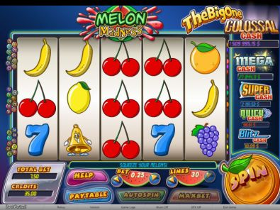 Slot Reels - Melon Madness bwin.party 5 Reel/30 Line