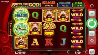 Slot Reels - Super Rich God: Hold and Win Booongo 5 Reel/25 Line