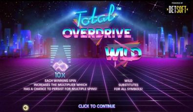 Info - Total Overdrive BetSoft 3 Reel/5 Line