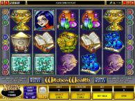 Slot Reels - Witches Wealth Microgaming 5 Reel/9 Line